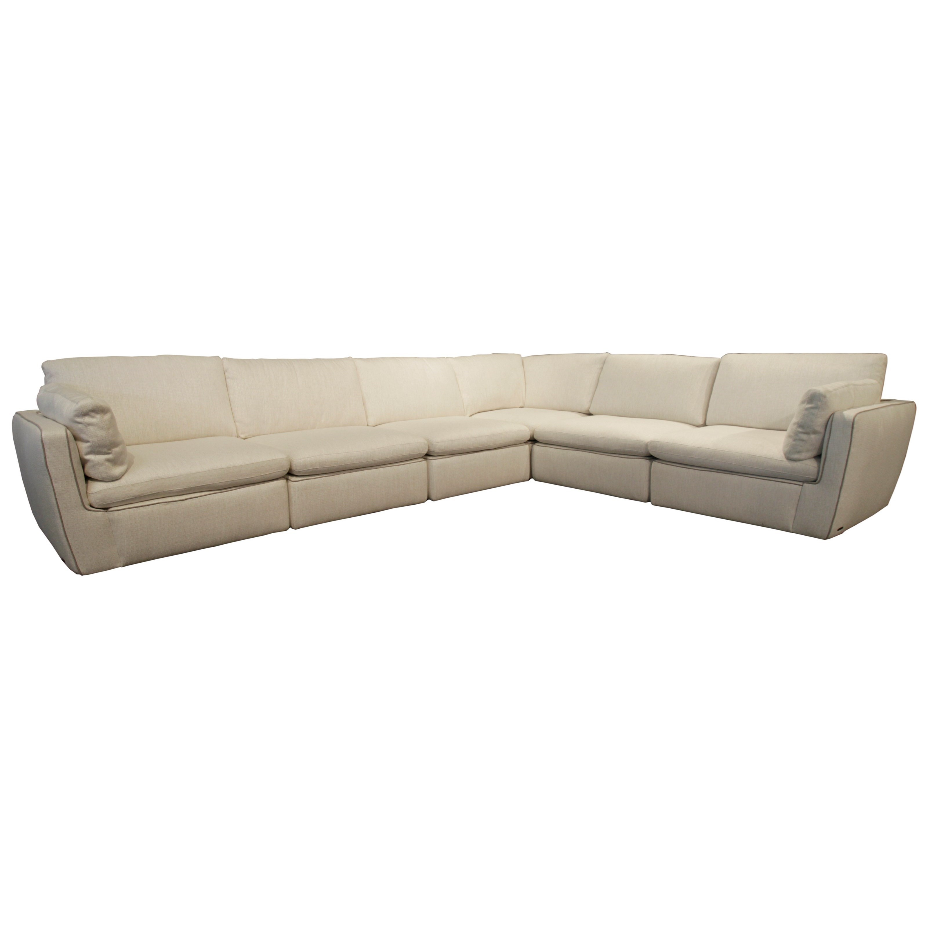casual contemporary 6 piece sectional