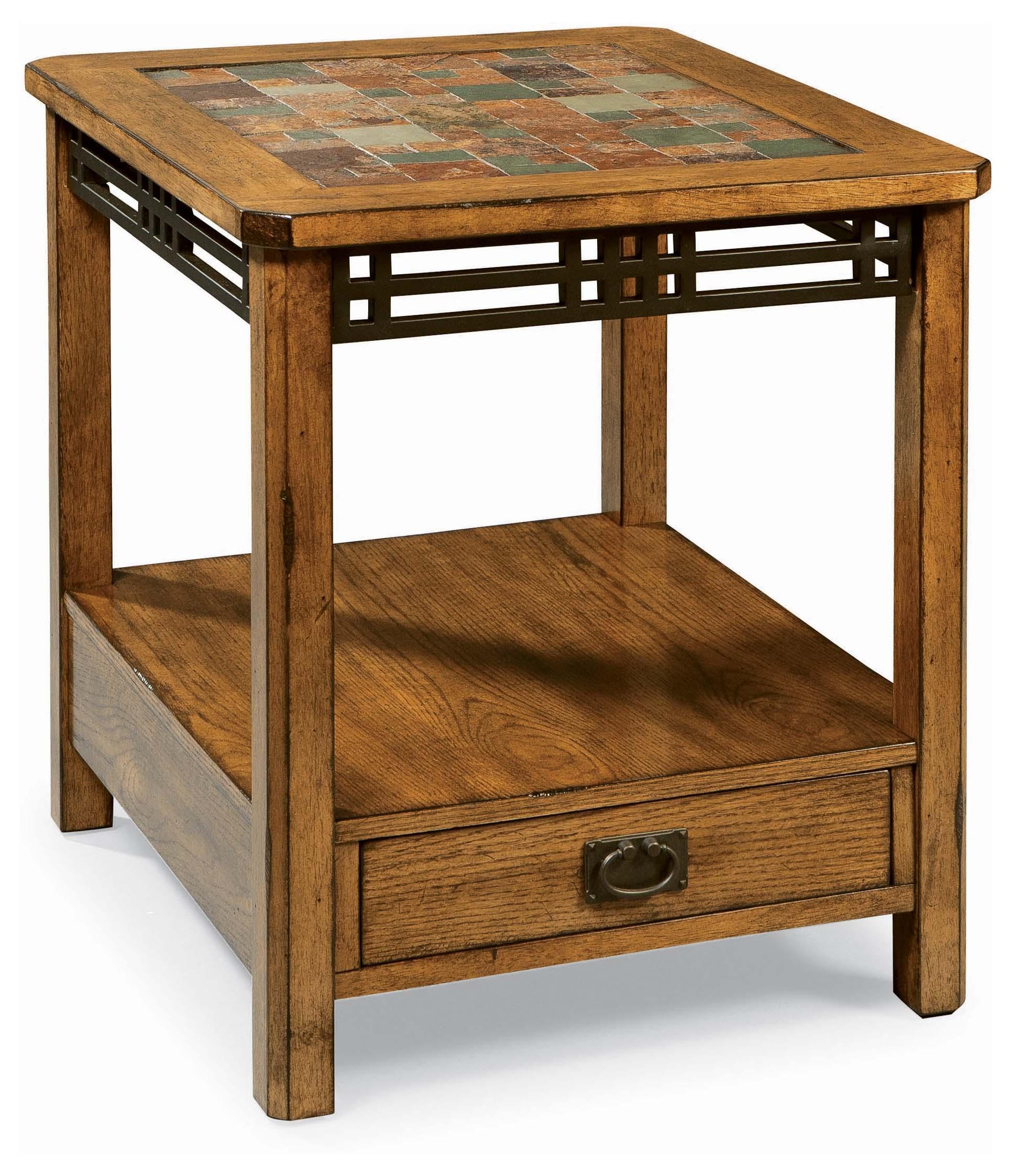 american craftsman oak end table
