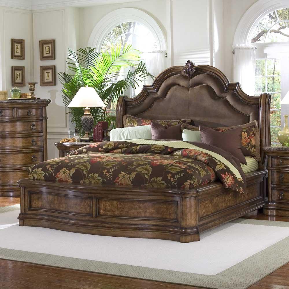 san mateo king microfiber upholstered sleigh bed