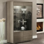 Alf Italia Tivoli Contemporary Weathered Grey Curio Cabinet