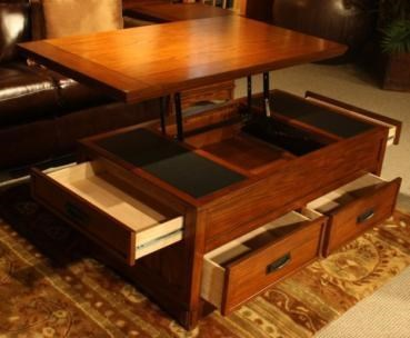 cross island rect storage lift top cocktail table
