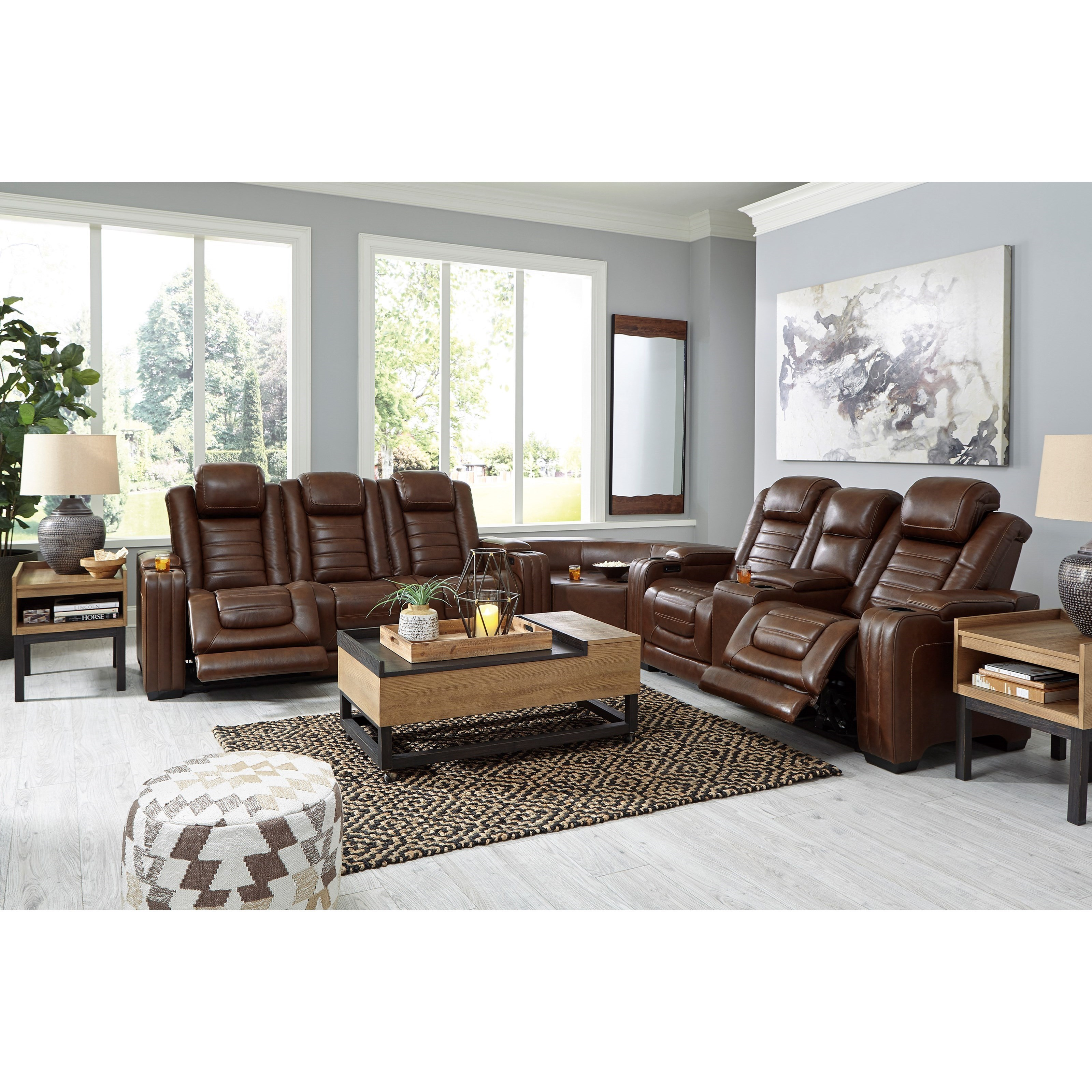 backtrack power reclining sectional