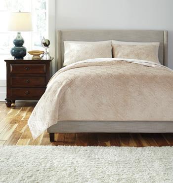 bedding sets king patterned golden beige comforter set by signature design at fisher home furnishings