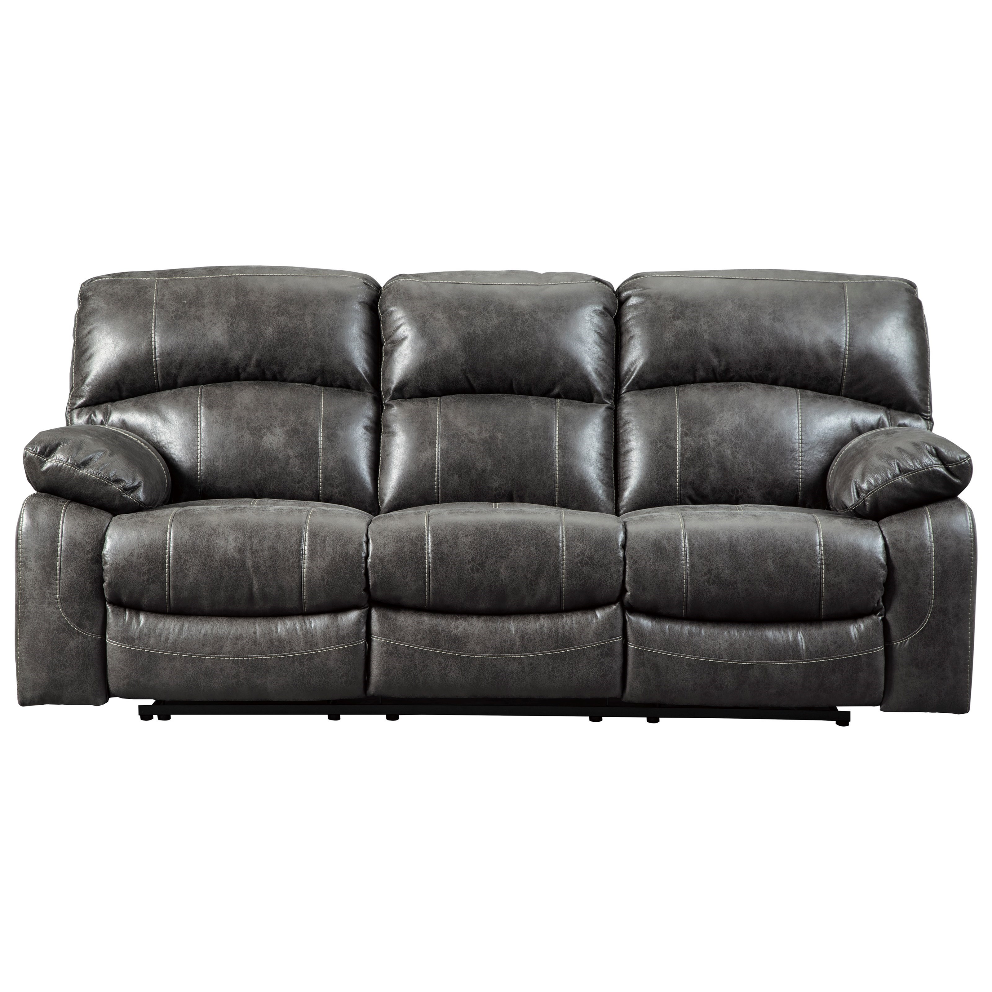 Signature Design By Ashley Dunwell 5160115 Faux Leather Power Signature Design By Ashley Dunwellpower Reclining Sofa Adjustable Headrests