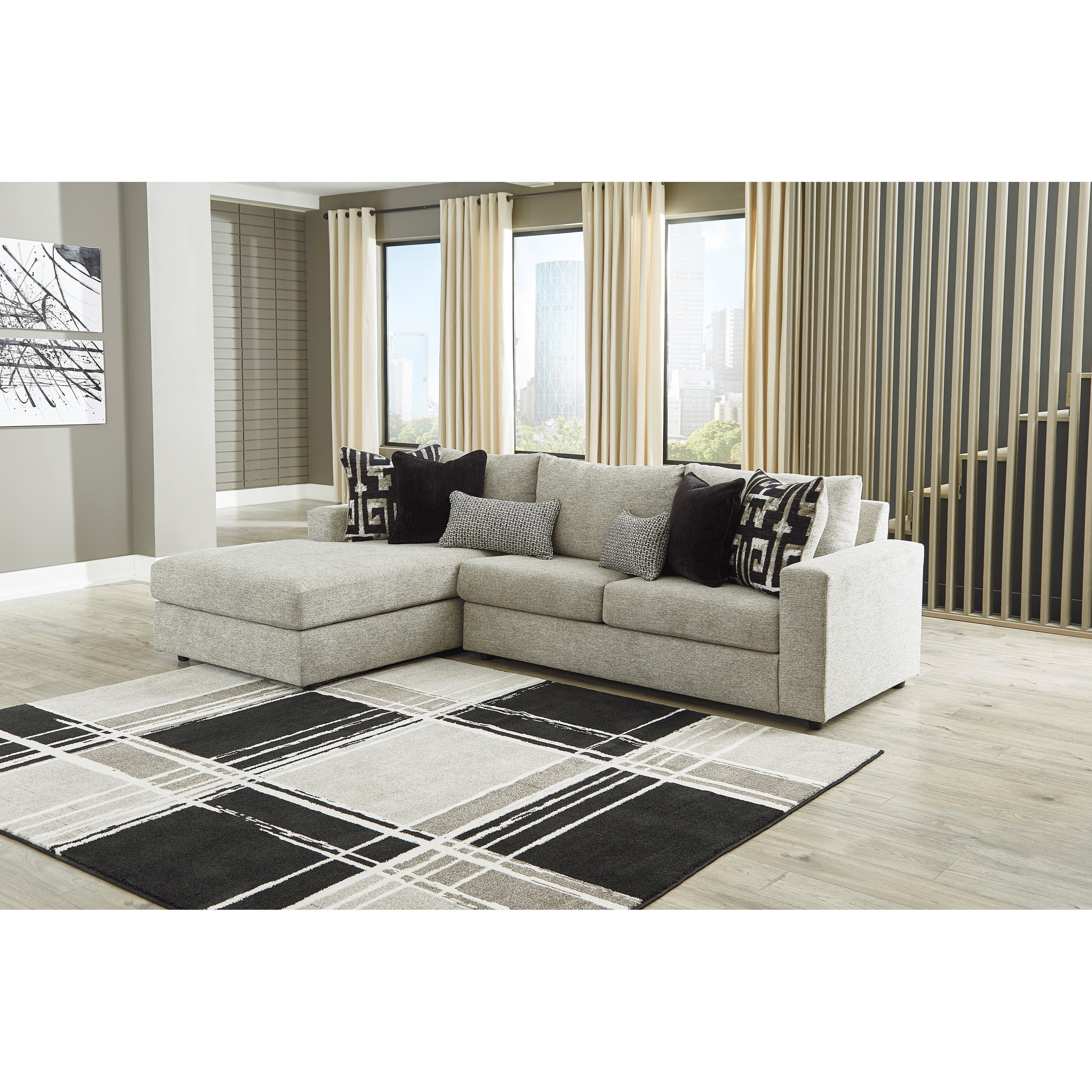 ravenstone 3 seat sectional sofa w laf chaise