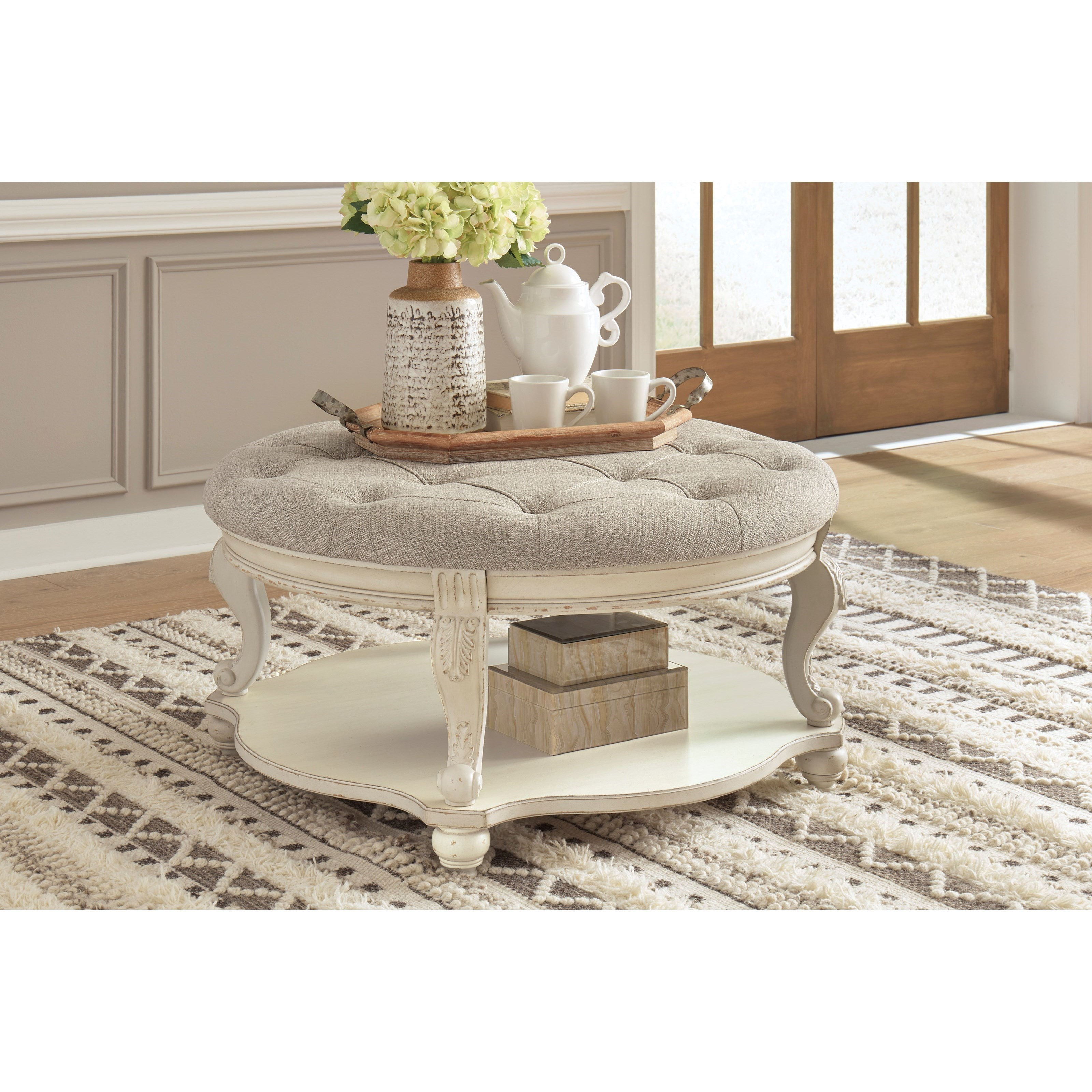 realyn ottoman cocktail table