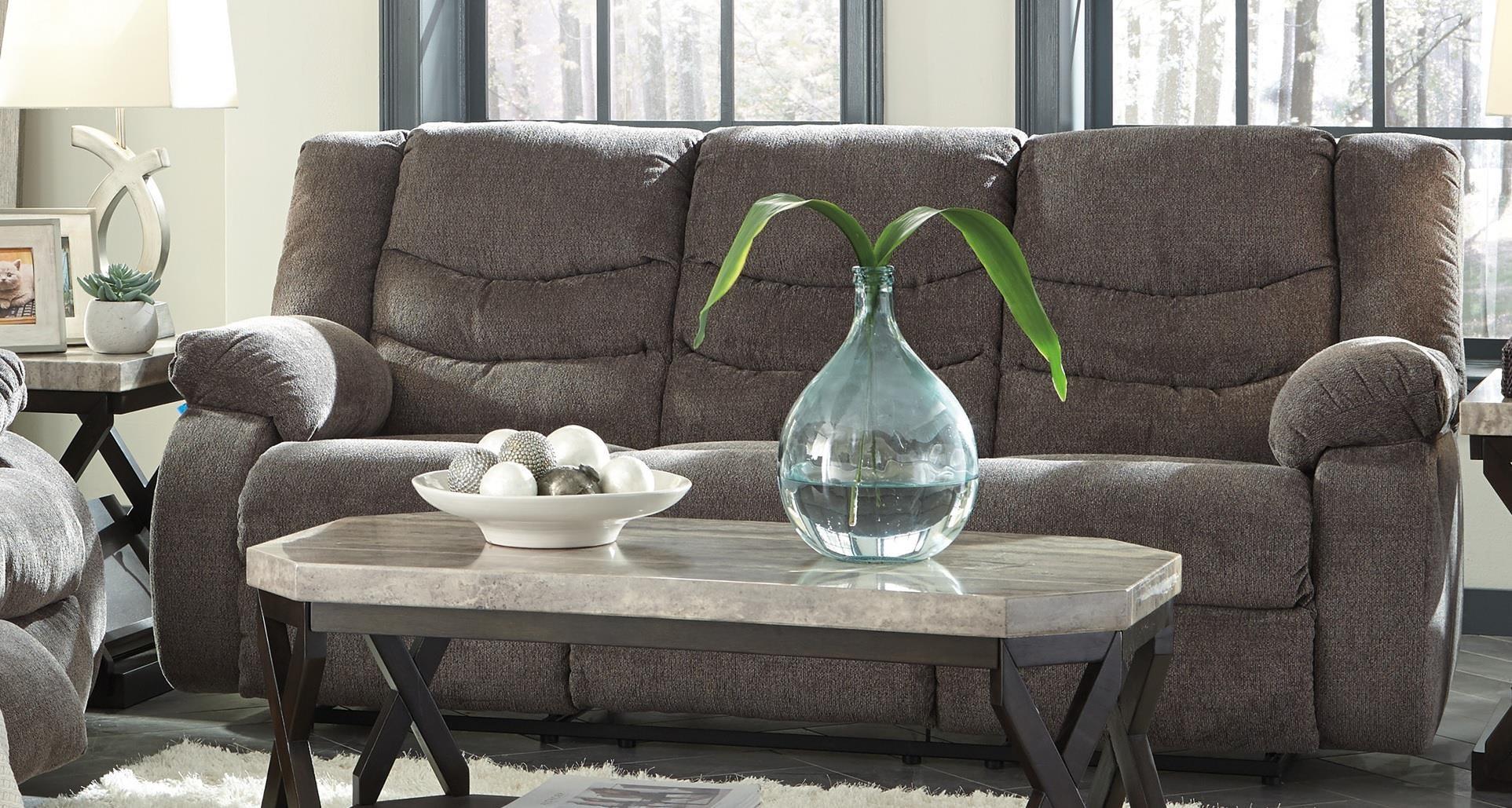 stark reclining sofa by ashley at morris home