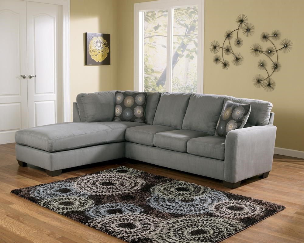 zella charcoal sectional sofa with left arm facing chaise