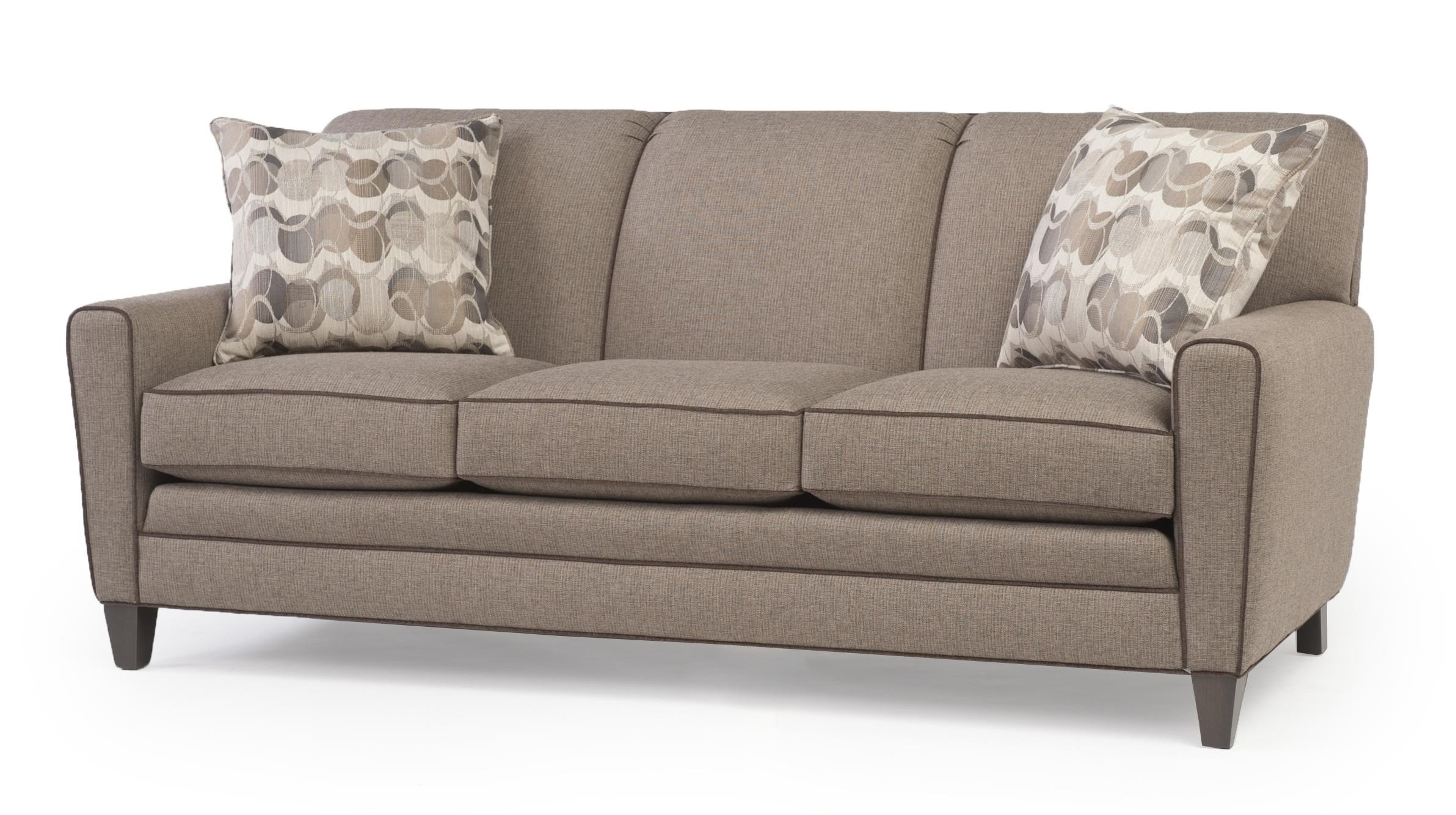 Smith Brothers 225 Sofa With Tapered Track Arms Saugerties