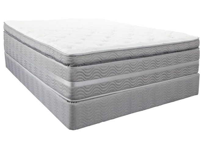 Southerland Bedding Co Robertson Super Pillow Top King Mattress And House Foundation
