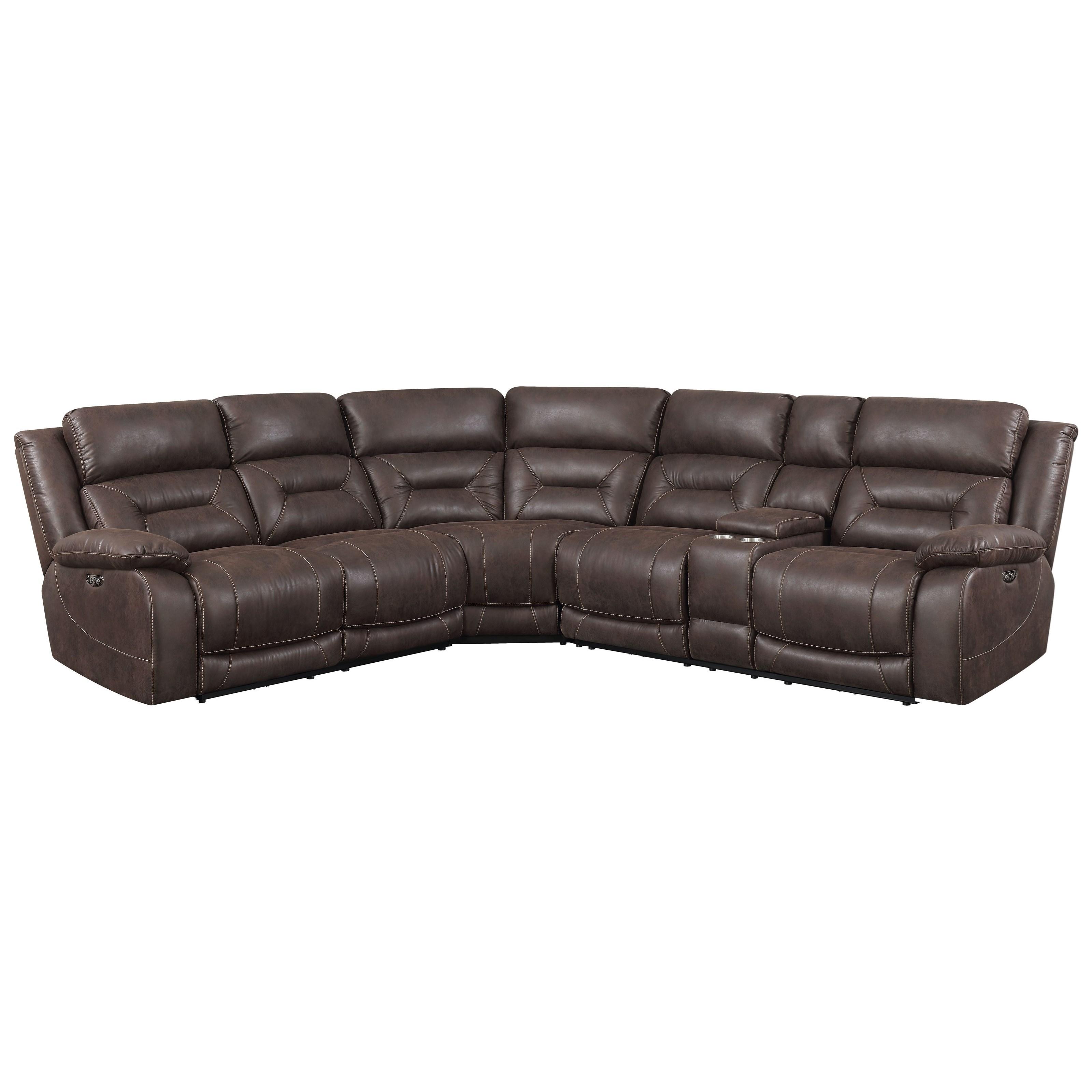 aria 3 piece reclining sectional sofa