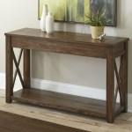 Steve Silver Lenka Rustic Farmhouse Sofa Table With Shelf Wayside Furniture Sofa Tables Consoles