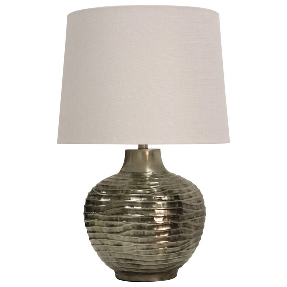 lamps aged silver lamp with wave design