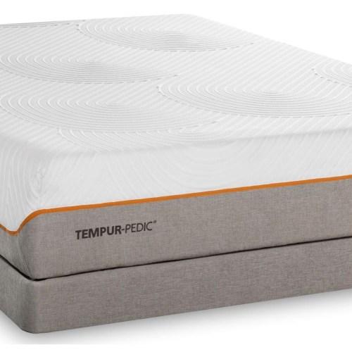 Tempur Pedic Contour Elite Breeze Queen Medium Firm Mattress And Low Profile