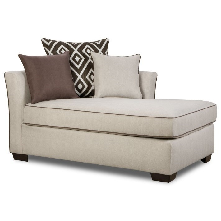 4202 transitional one arm chaise