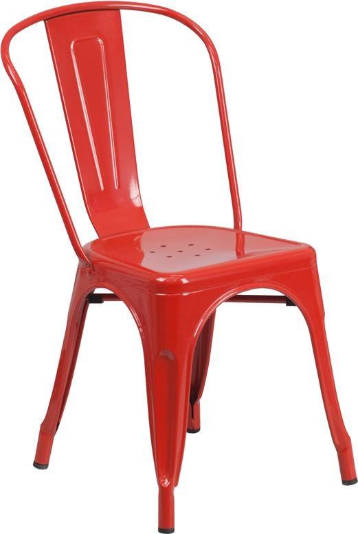 metal indoor outdoor chairs red metal indoor outdoor stackable chair