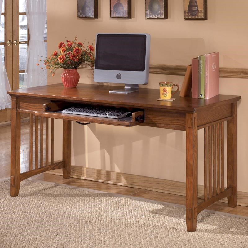 Ashley Furniture Cross Island Oak Large Leg Desk Becker