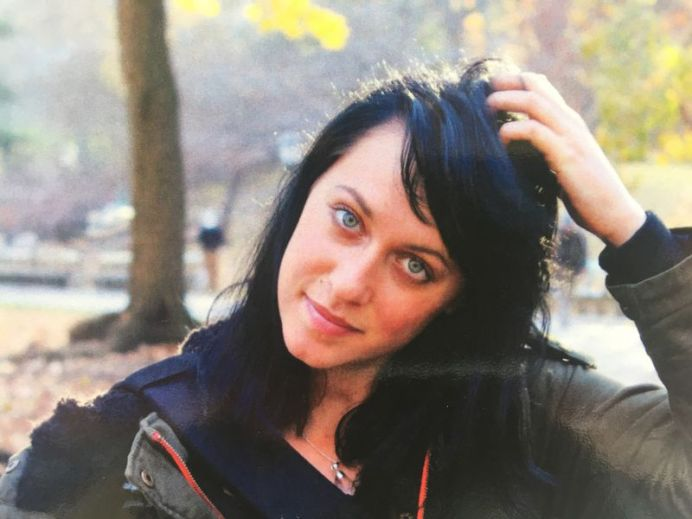 Jessica Falkholt in a previously unseen photograph from the funeral booklet. (Supplied)
