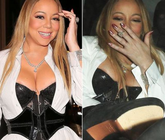 Mariah Carey Puts James Packers Ring On Middle Finger Has Nip Slip On Date With Dancer 9celebrity