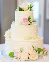 Wedding cake photographed during a wedding at The Ospreys at Belmont Bay by Erin Julius of Imagery by Erin.