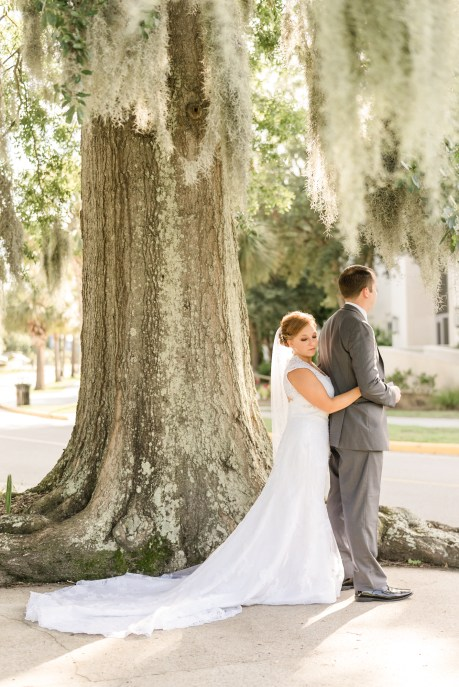 Bride and groom during wedding at the Citadel in Charleston SC. Charleston wedding photography by Imagery by Erin
