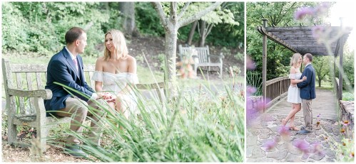 engagement session at Meadowlark Botanical Gardens