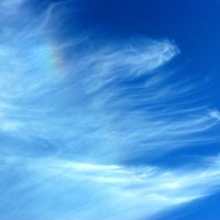 Wispy Clouds and Sun Dog