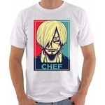 Camiseta camisa one piece sanji chef anime mangá nerd otaku