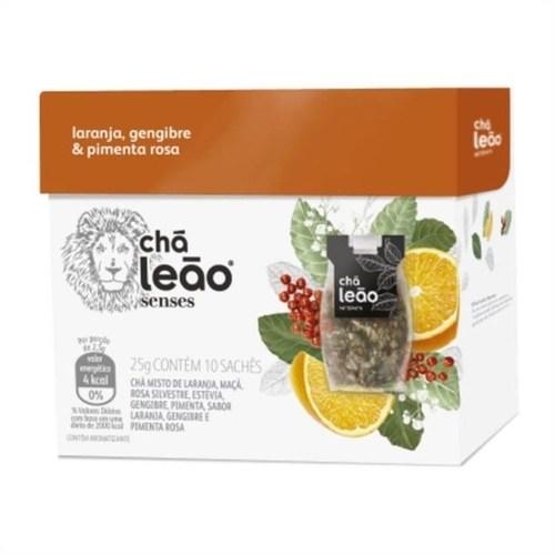 Foto 1 - Chá de Laranja, Pimenta Rosa e Gengibre 10 Sachês - Leão Senses