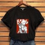 Meu herói academia midoriya izuku impressão t-shirt gráfico camiseta pescoço casuais rodada anime camiseta tops