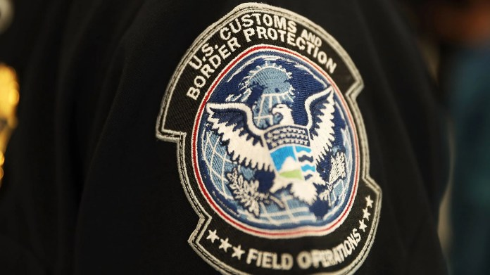 A Customs and Border Protection official at the airport