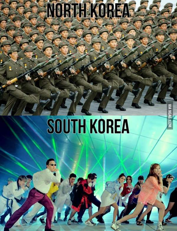 Know the difference: North Korea vs South Korea - 9GAG