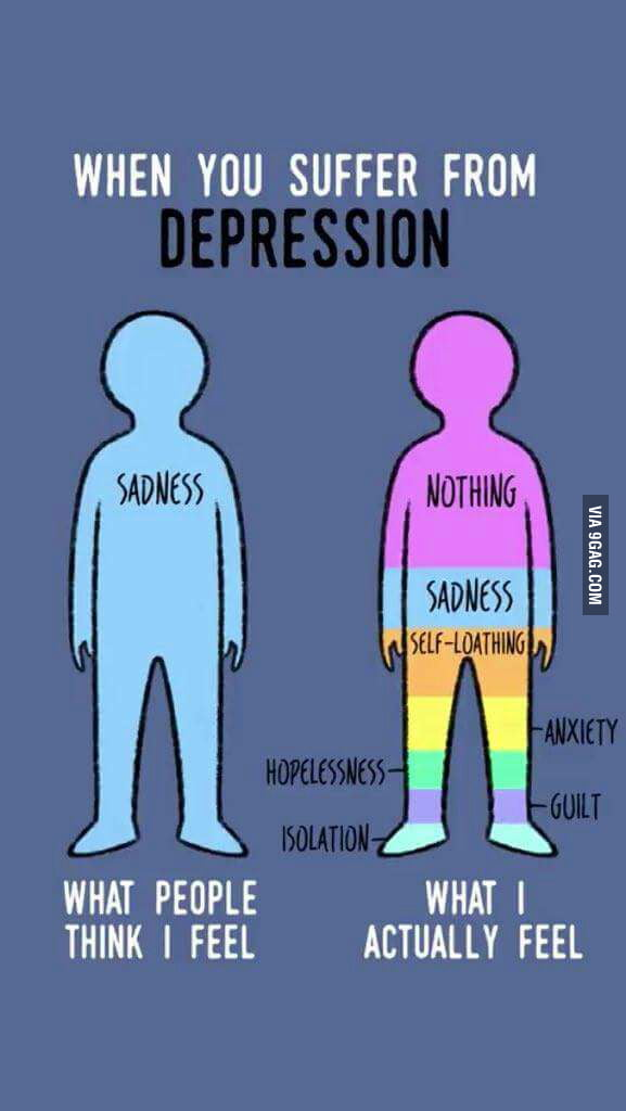 What Depression Really Looks Like 9GAG