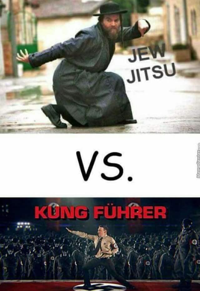 Jew jitsu vs kung fuhrer - 9GAG
