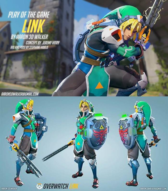 Thought You Guys Might Like This Zelda Overwatch Hero Fanartnot Mine 9GAG