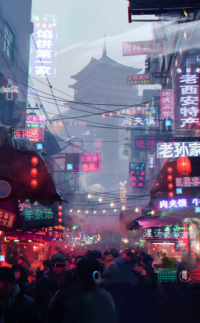 Aesthetic 1080p, 2k, 4k, 5k hd wallpapers free download, these wallpapers are free download for pc, laptop, iphone, android phone and ipad desktop. 2nd-tier cities in China are the most cyberpunk places on