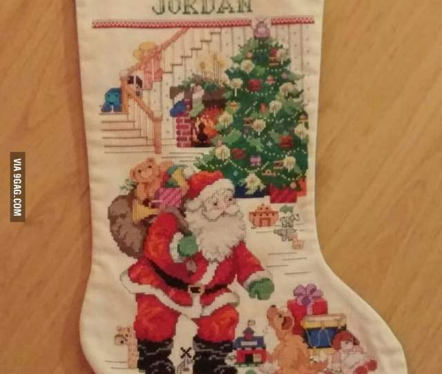 Stocking My Grandmother Made Me For My First Christmas Im