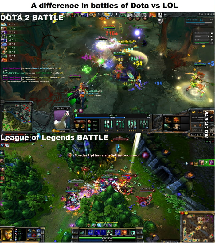 Difference In Team Battles Dota 2 Vs LoL 9GAG