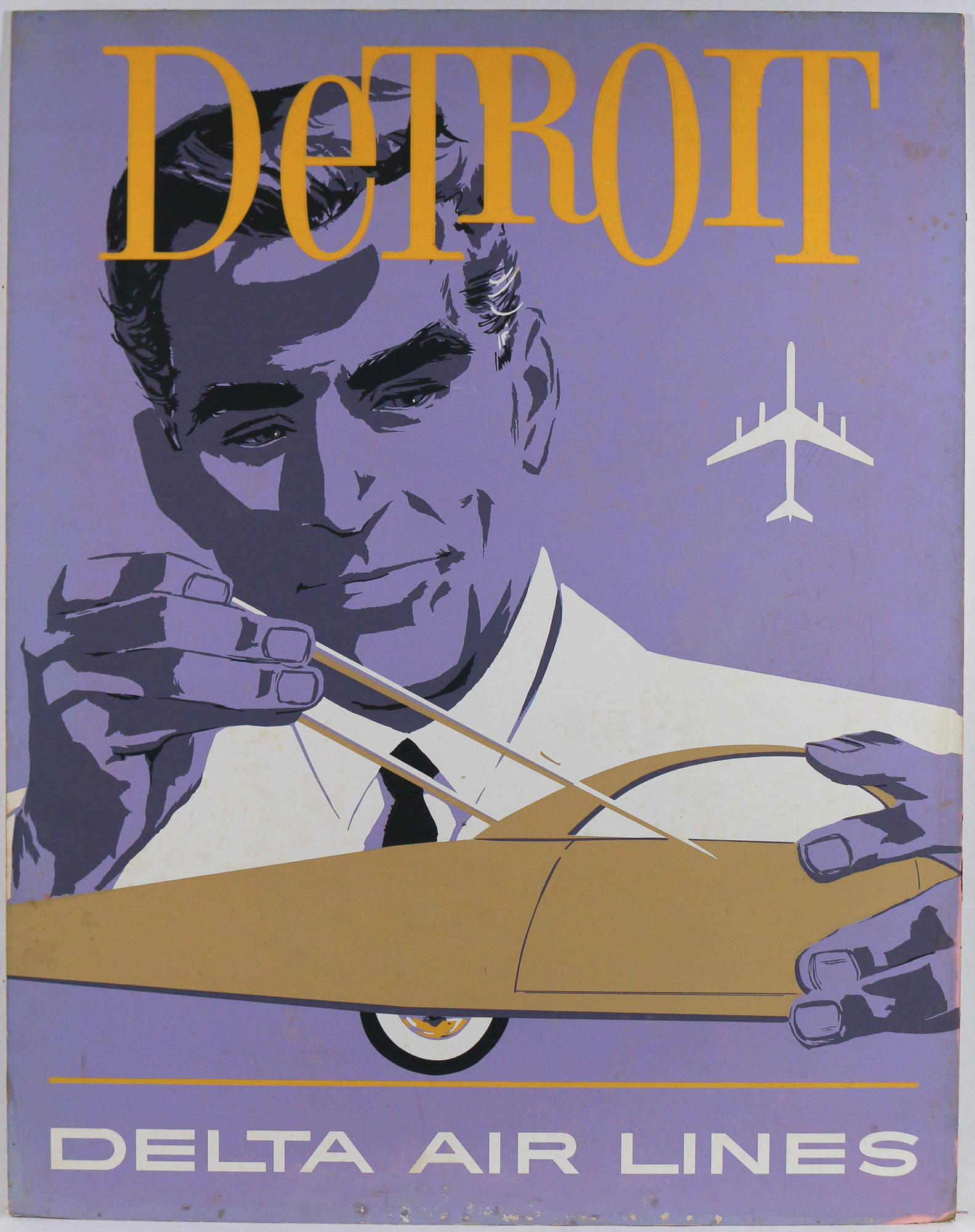 3pc david klein delta airlines posters