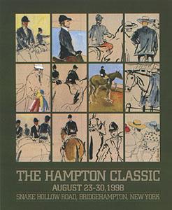 1998 Mickey Paraskevas Hampton Classic Poster