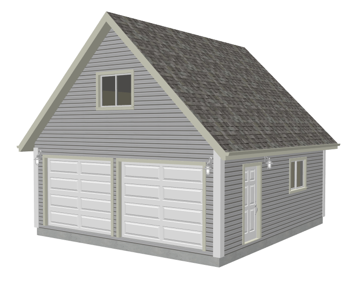 8′ Garage Plan With Loft DWG And PDF