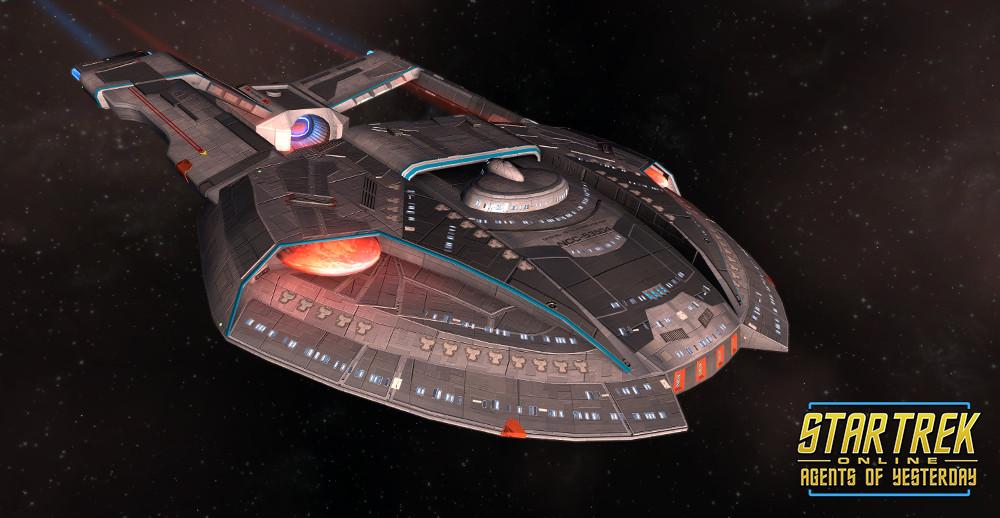 STAR TREK ONLINE   STEAMRUNNER -Blockade Runner Escort.. a very a small medium very nibble light carrier class vessel but it can really smack.. !