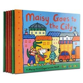 英文原版Maisy Swimbag小鼠波波6本册套装少儿童绘本书送环保袋