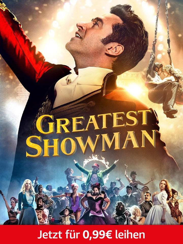 Nur heute: Greatest Showman für 0,99€ leihen. Nur für Prime-Mitglieder.