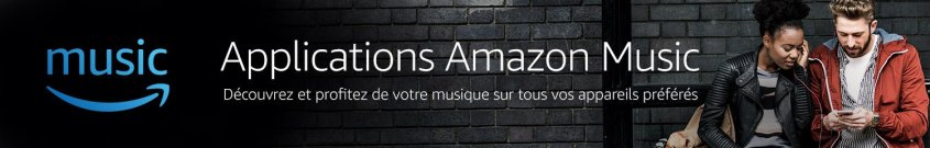 Applications Amazon Music Unlimited pour ordinateur, tablette, téléphone (IOS et Android), voiture, Sonos etc.