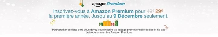 Actuellement, une offre vous permet même d'avoir accès au service Amazon Premium pour 29€/an !