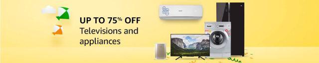 Amazon Republic Day Sale TVs & Appliances