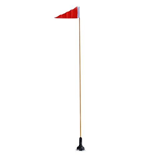 Sharplace Bandera de Seguridad con Poste Base de Montaje para Kayak Canoa Barco