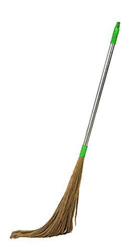 KleenSweep Grass Aluminium Plastic Floor Cleaning Broom with Long Handle (Multicolour)