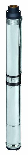 Einhell GC-DW 1300 N Bomba de agua de profundidad para pozos, 2 ojales de suspensión, caudal 5000 l/h, altura de presión 65 m, 1300 W, 230 V, color plateado (ref. 4170944)